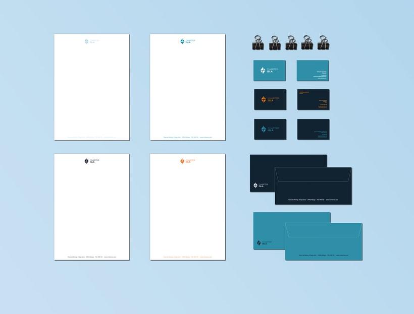 Branding e imagen corporativa - Charter Isla 4