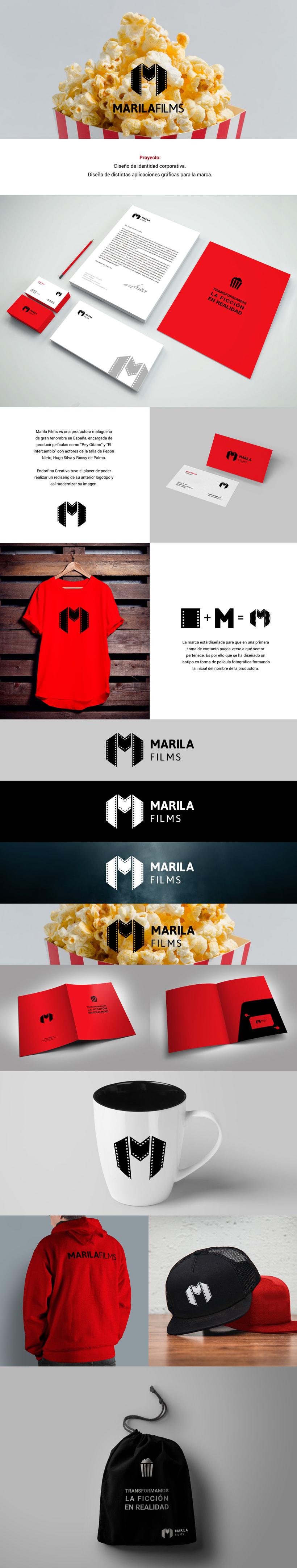 Identidad corporativa para MARILA FILMS 0