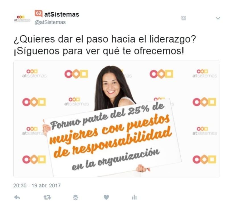 Campaña Twitter Ads Captación Talento 1