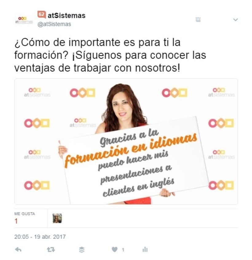 Campaña Twitter Ads Captación Talento 4