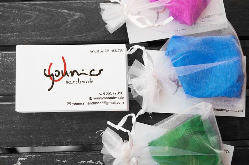 Branding, tarjetas y cartel para Younics Handmade 2