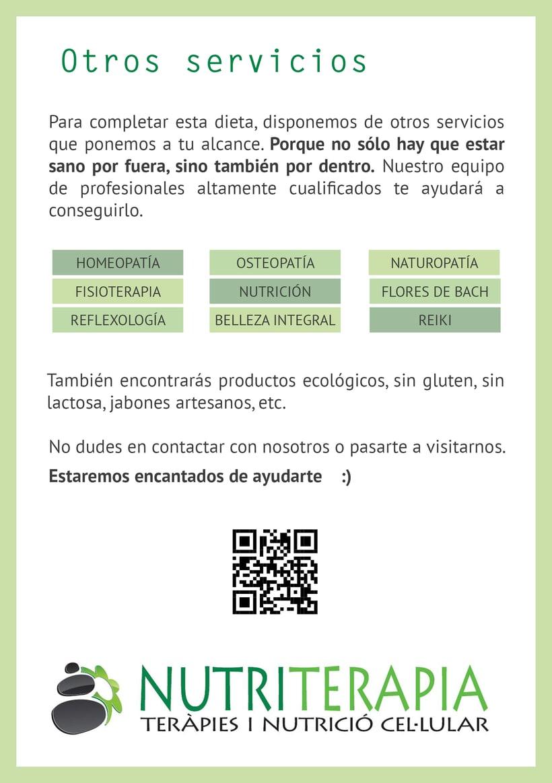 Flyer, tríptico y catálogo para Nutriterapia 1