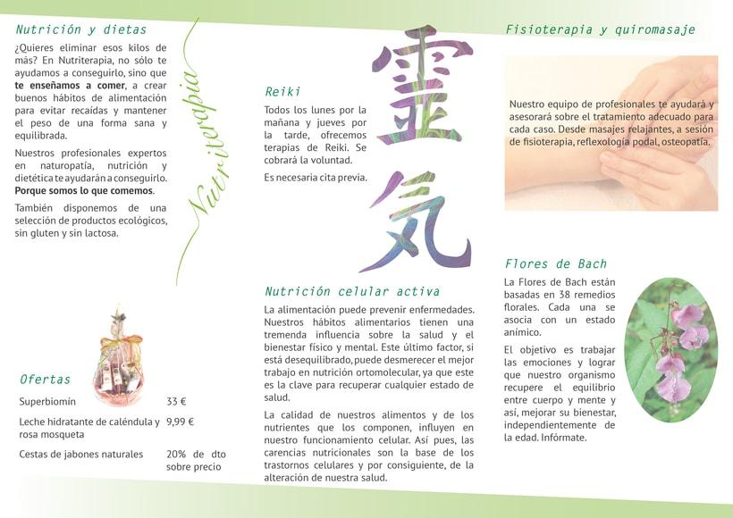 Flyer, tríptico y catálogo para Nutriterapia 2