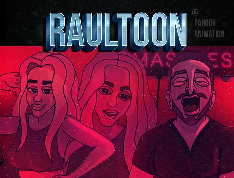 Animación 2D Adobe Flash Animate ( Shakira Chantaje Parodia Cartoon ★ Puro Masaje | Raultoon ) 4