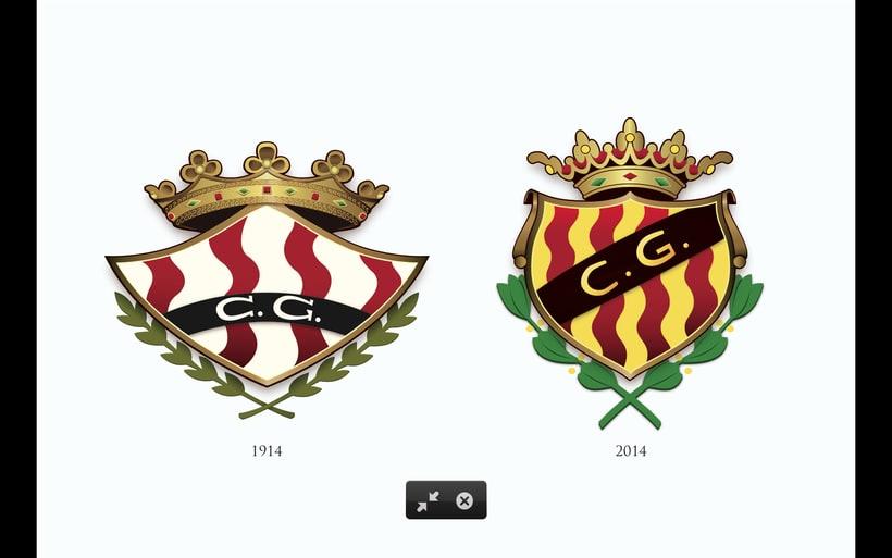 Logotipo (isotipo) Escudo Gimnastic de Tarragona Futbol 1914 - 2014 -1