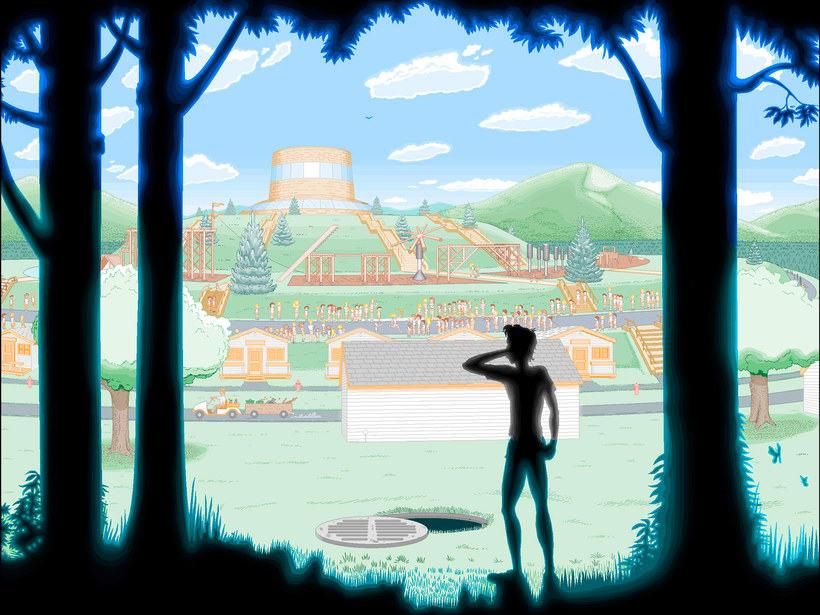 Una novela ilustrada con Paint a base de pixel art 12