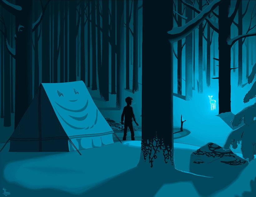 Una novela ilustrada con Paint a base de pixel art 18