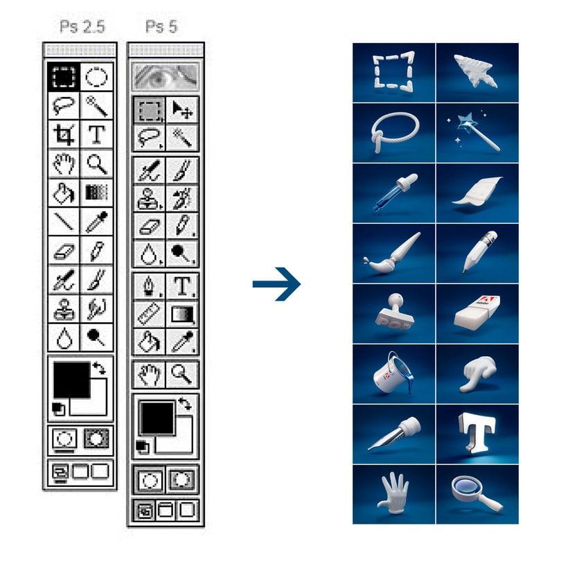 Las herramientas de photoshop en 3d domestika - Herramientas de photoshop ...