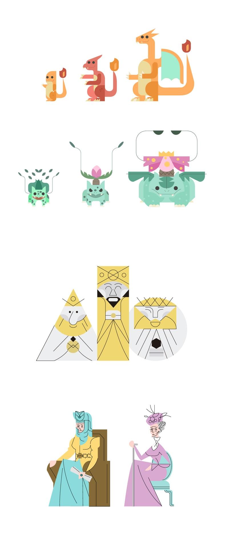 Diseño de personajes para el character design challenge 1