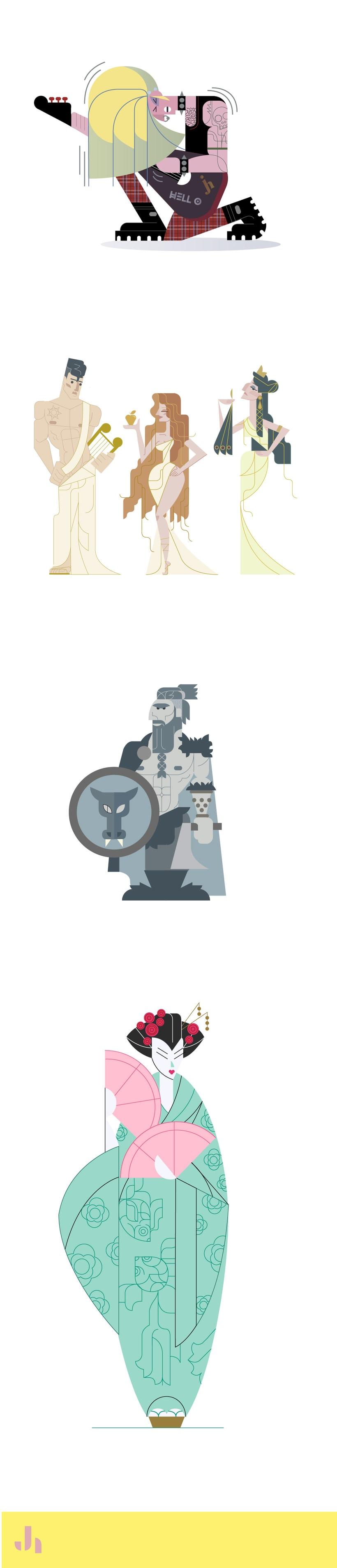 Diseño de personajes para el character design challenge 3