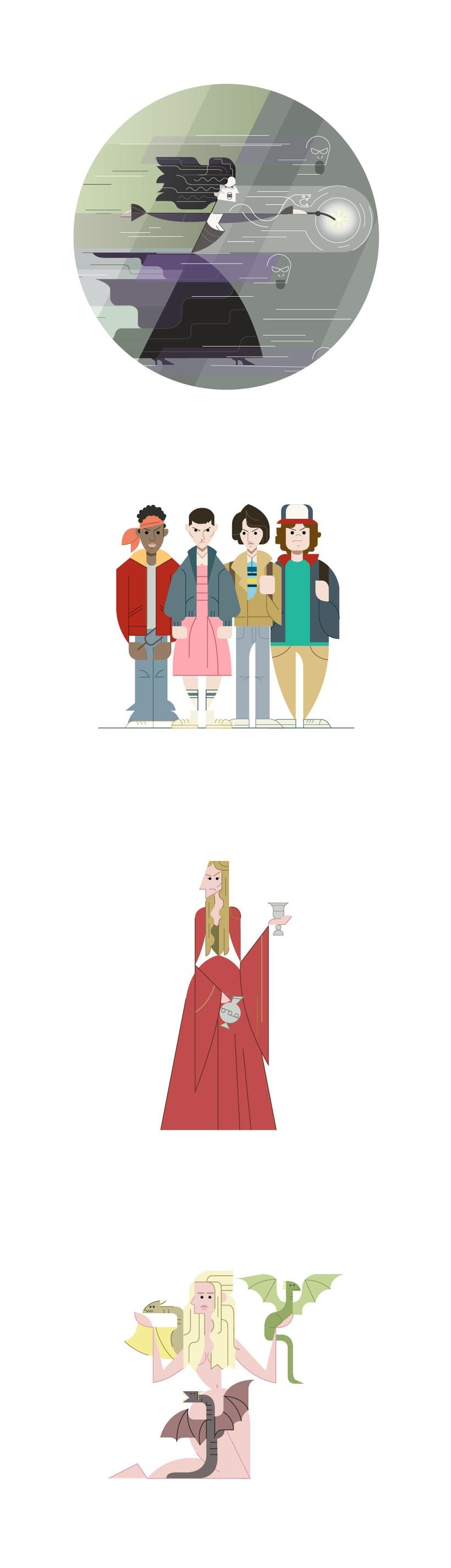 Diseño de personajes para el character design challenge 2