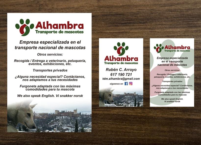 """Logotipo, papelería y rotulación de furgoneta """"Alhambra"""" 4"""