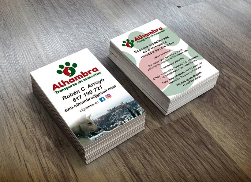 """Logotipo, papelería y rotulación de furgoneta """"Alhambra"""" 5"""