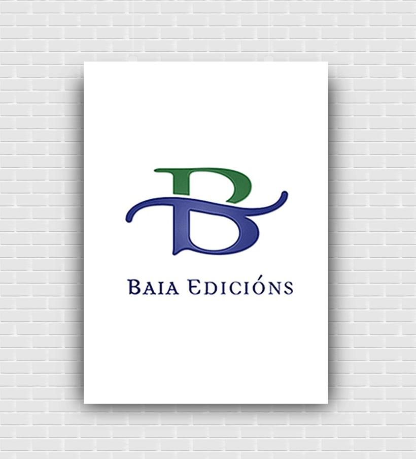 Marca para a editorial galega Baia Edicións 0