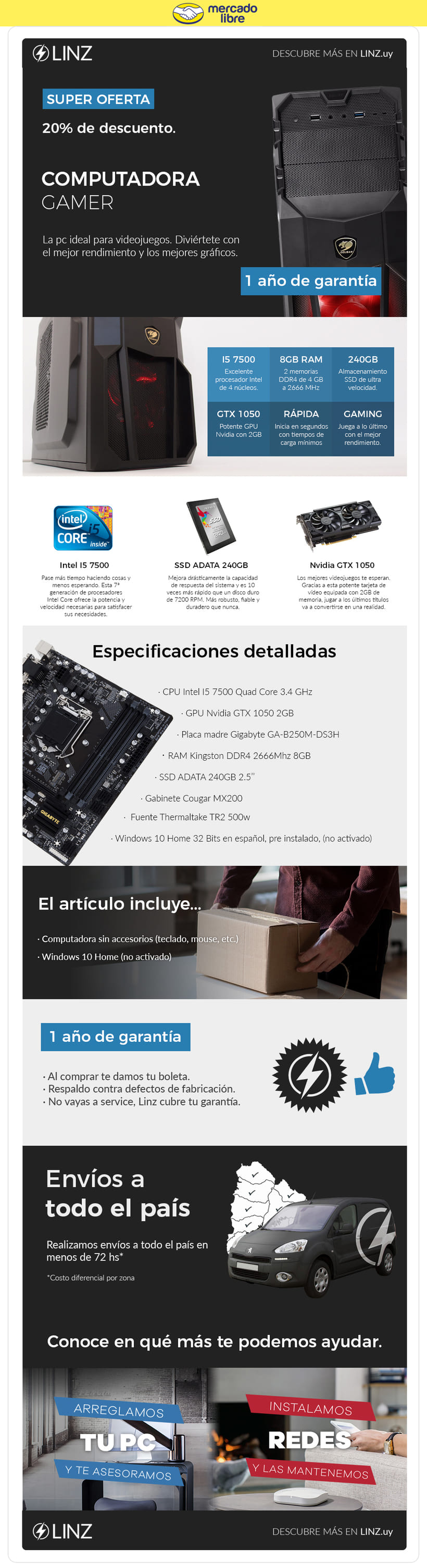 Linz Informática - Plantillas Mercadolibre | Domestika