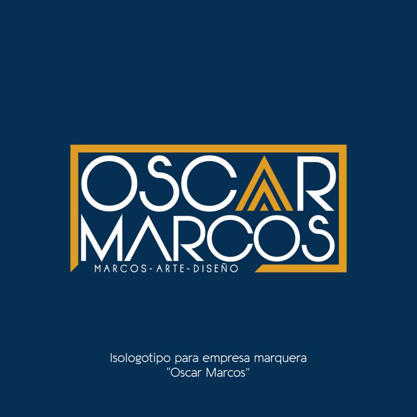 Diseño isologotipo Oscar Marcos -1