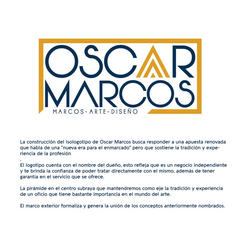 Diseño isologotipo Oscar Marcos 0