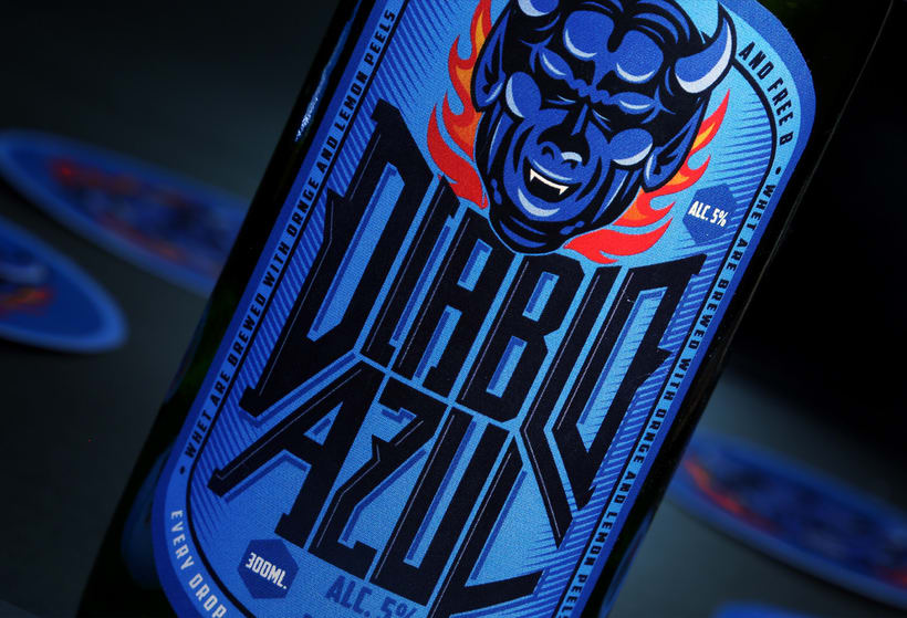 Diablo Azul Beer - Packaging 2