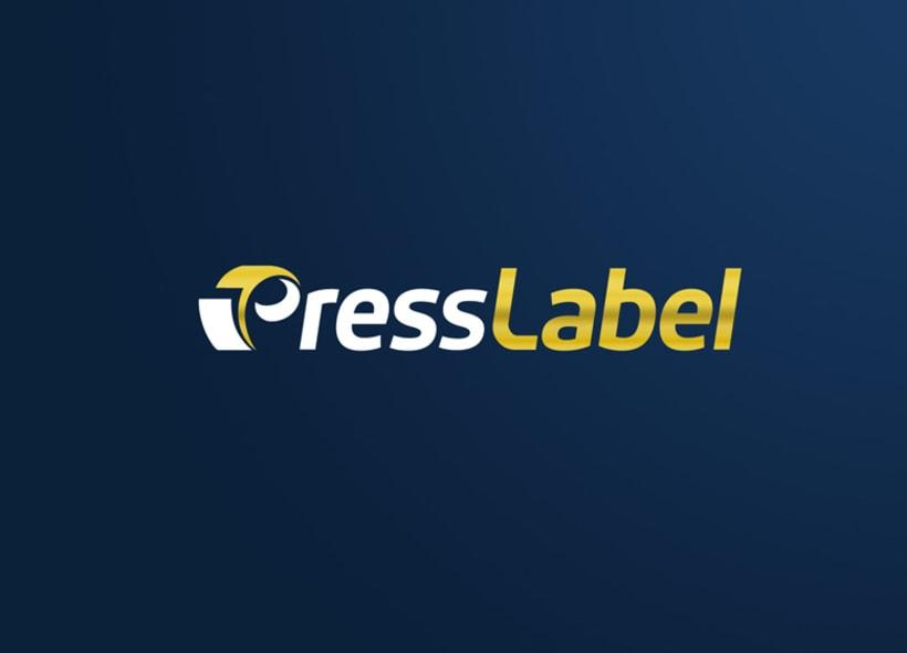 Diseño de logotipo y papelería para PressLabel, una imprenta ubicada en Lucena (Córdoba) y que realiza todo tipo de trabajos de impresión, aunque su mayor activo es el sector del etiquetado para productos alimentarios. -1