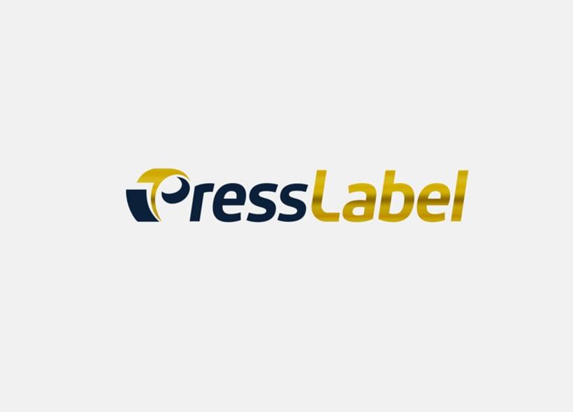Diseño de logotipo y papelería para PressLabel, una imprenta ubicada en Lucena (Córdoba) y que realiza todo tipo de trabajos de impresión, aunque su mayor activo es el sector del etiquetado para productos alimentarios. 0