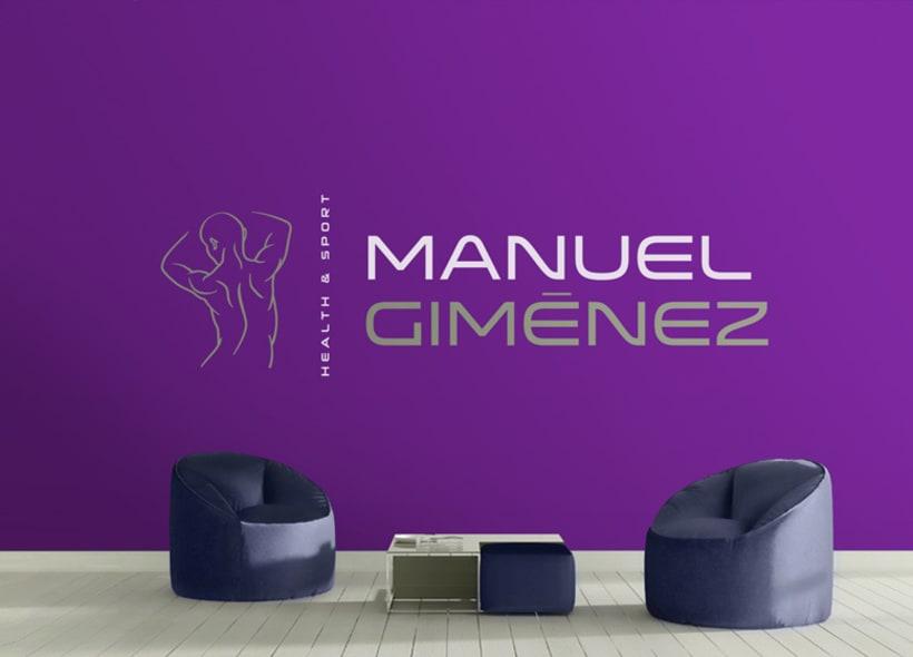 Diseño de logotipo para Manuel Giménez, un entrenador personal, quiromasajista y asesor de nutrición que contactó con nosotros porque estaba a punto de abrir su propio local después de estar años trabajando para distintos gimnasios. 0