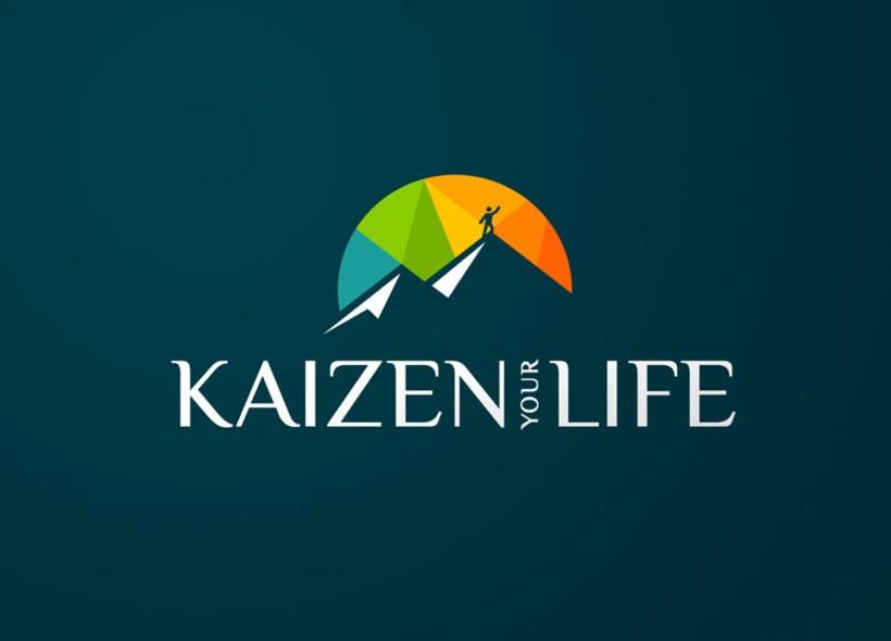 """Diseño de logotipo para Kaizen your Life, una empresa dedicada al """"Coaching"""" personal y ejecutivo, formación a particulares y empresas y servicios de consultoría de RRHH. 1"""