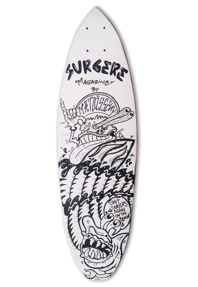 Skateboard • The Critter Surfer @matdisseny X @Surgeremagazine  #SkateArt -1