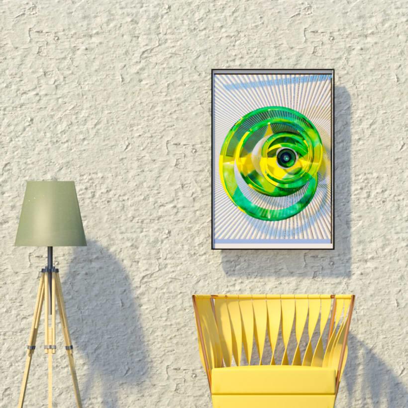 Green eye spiral. -1