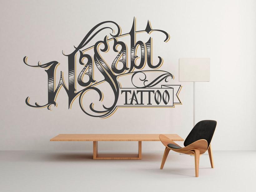 Lettering Wasabi Tattoo 2.0 2