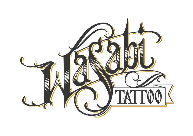 Lettering Wasabi Tattoo 2.0 0