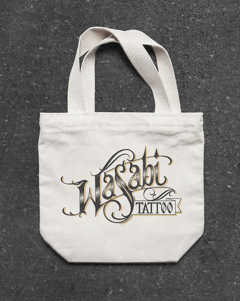 Lettering Wasabi Tattoo 2.0 1