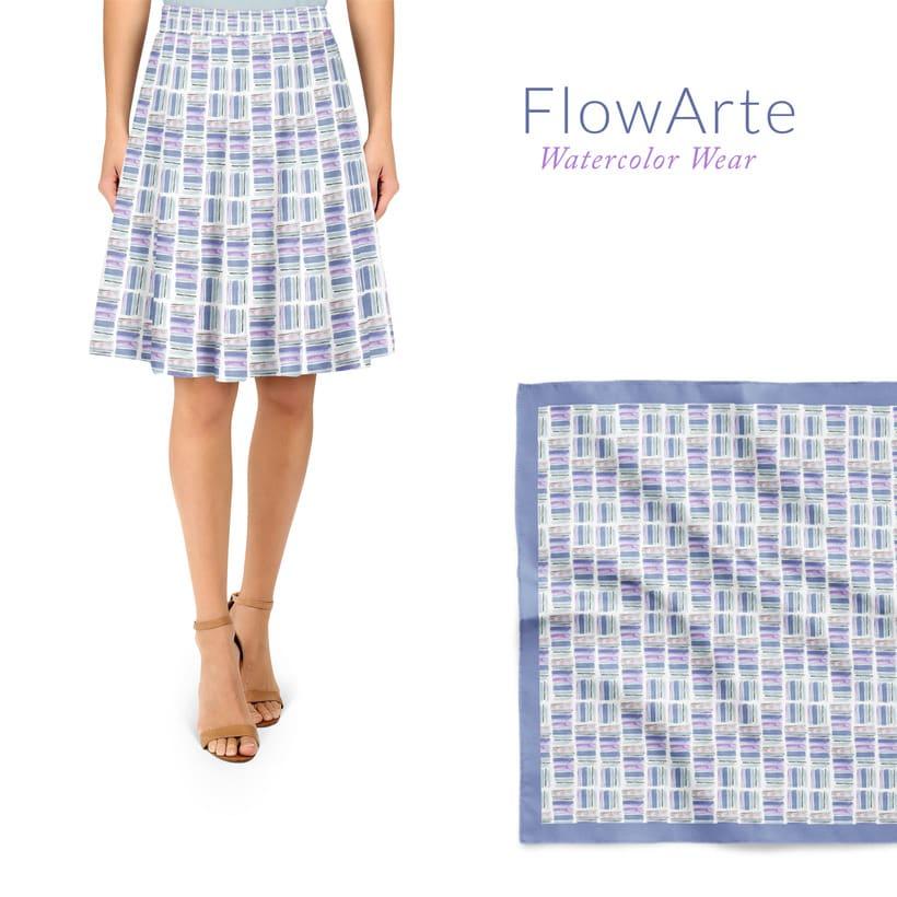 Diseño de estampados textiles - Acuarela -1
