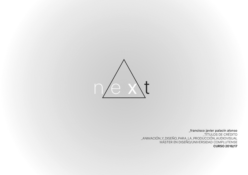 "Opening credit intro ""NEXT""  6"