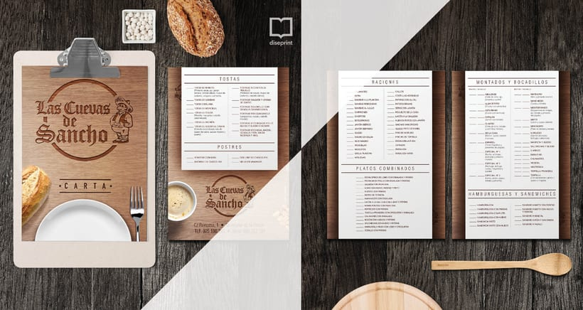 Carta Restaurante Sancho 0