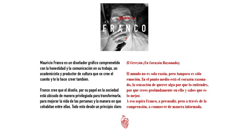 Hoja de vida e identidad corporativa FRANCO 1