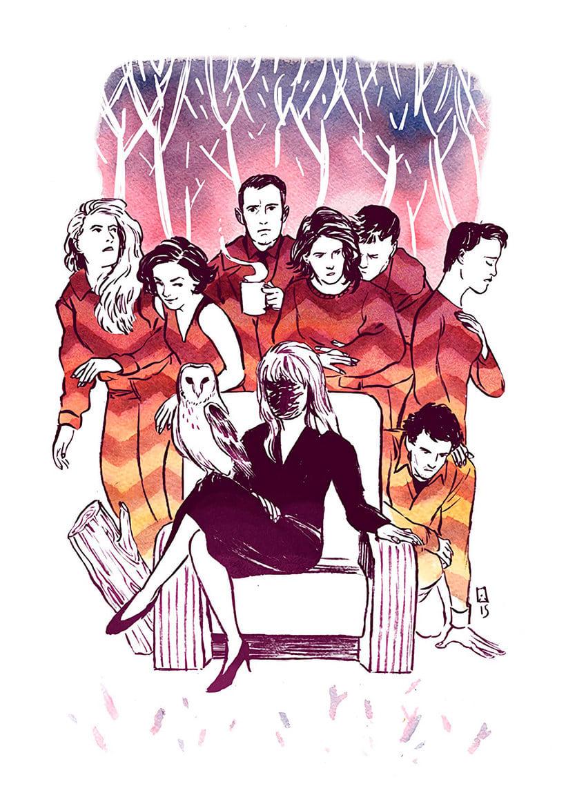 12 ilustradores y diseñadores revisitan Twin Peaks 4