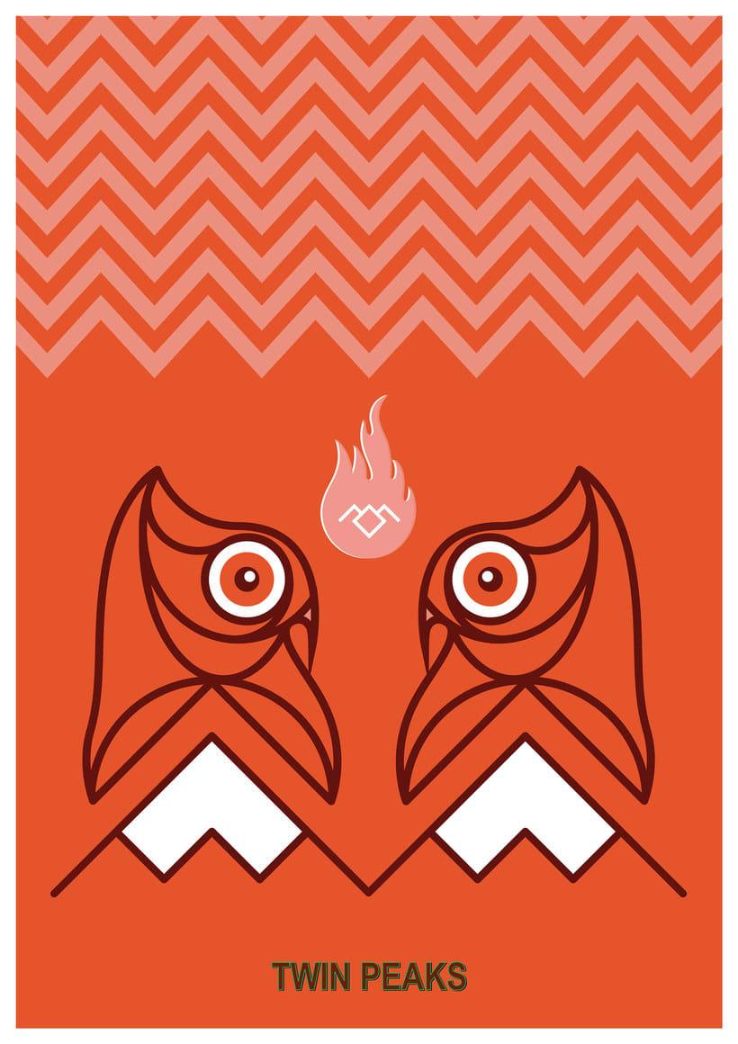 12 ilustradores y diseñadores revisitan Twin Peaks 6