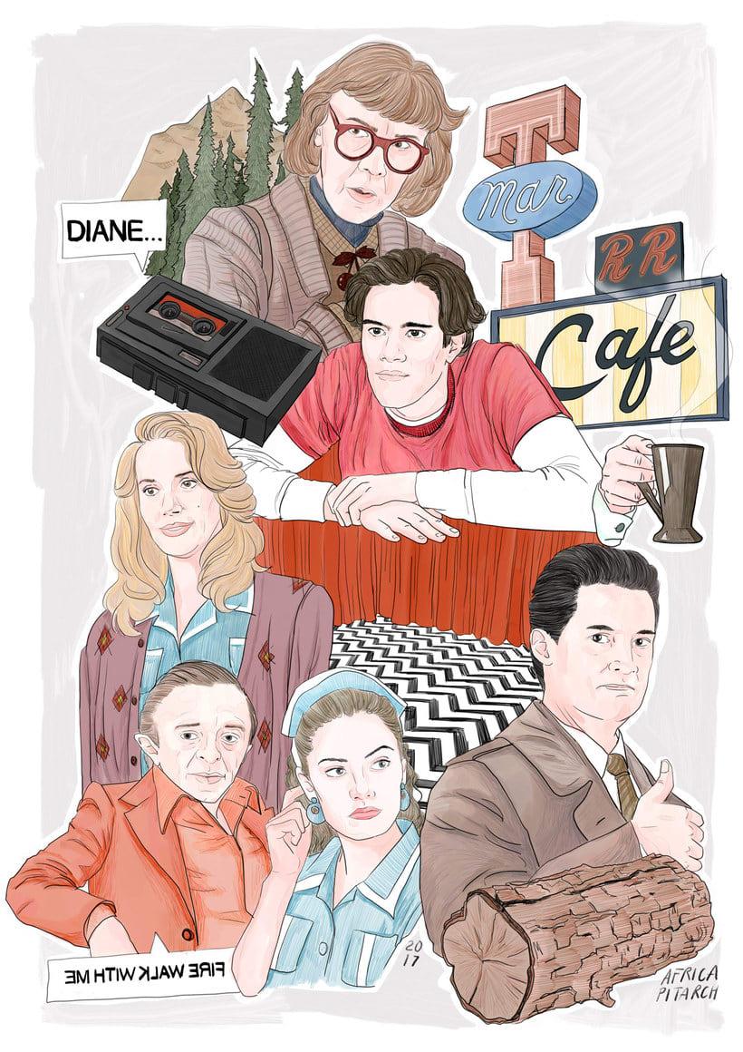 12 ilustradores y diseñadores revisitan Twin Peaks 10
