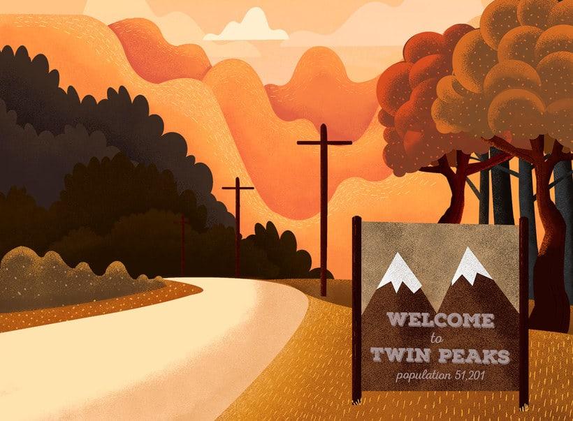 12 ilustradores y diseñadores revisitan Twin Peaks 14