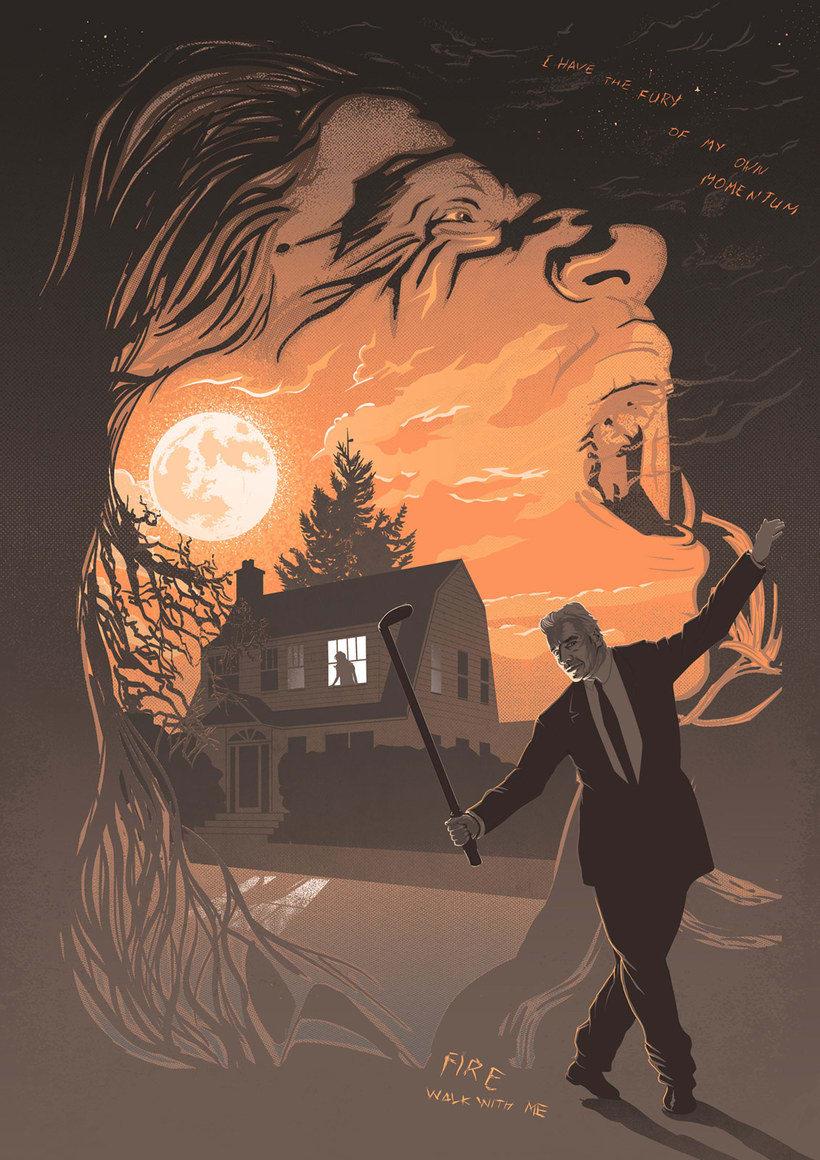 12 ilustradores y diseñadores revisitan Twin Peaks 22