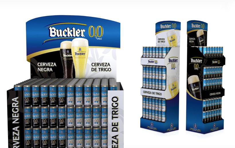 Buckler Cerveza de Trigo y Cerveza Negra  -1