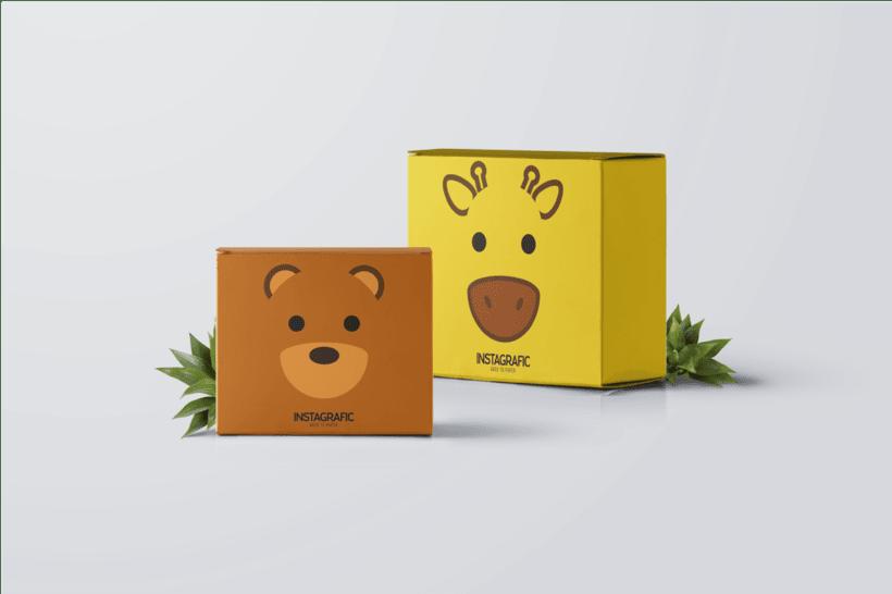 Ilustraciones de  Packaging para Instagrafic 1