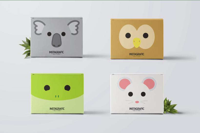 Ilustraciones de  Packaging para Instagrafic 2