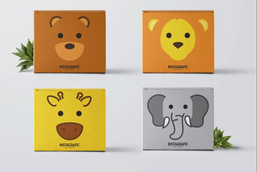 Ilustraciones de  Packaging para Instagrafic 3