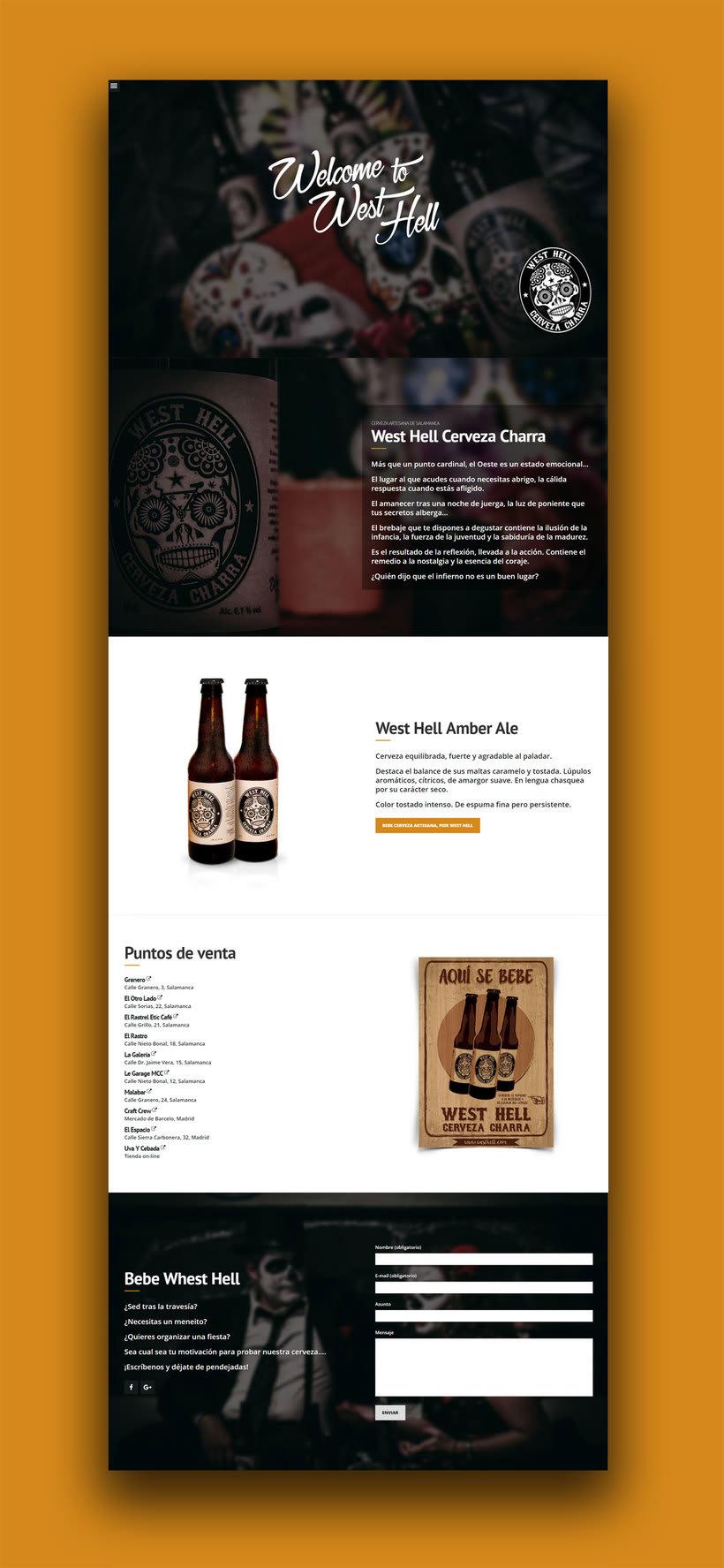 Diseño web y fotografía: West Hell Cerveza Charra 0