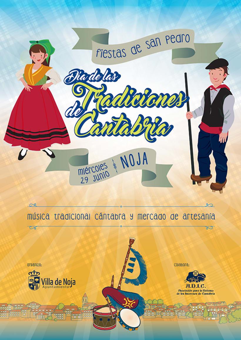 Cartel Día de las Tradiciones de Cantabria. Noja 2016 -1