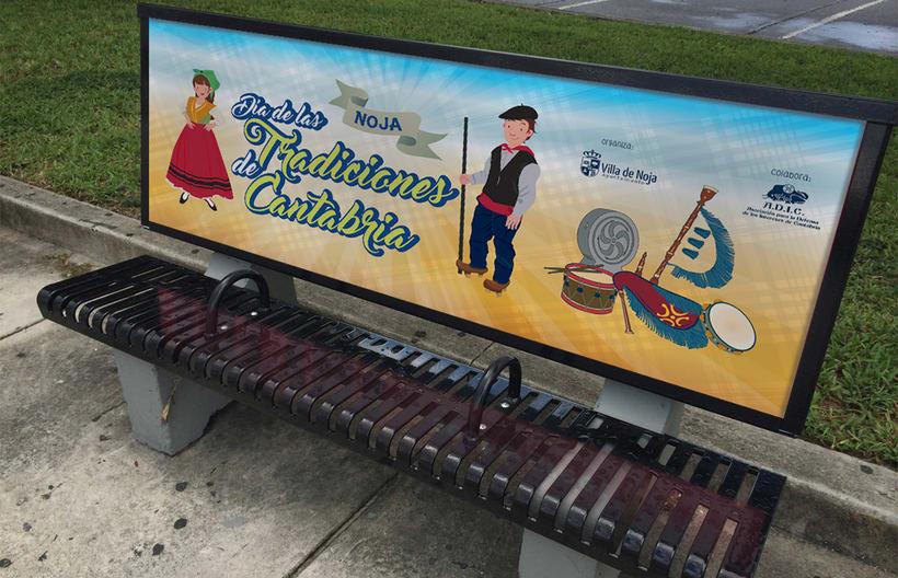 Cartel Día de las Tradiciones de Cantabria. Noja 2016 2