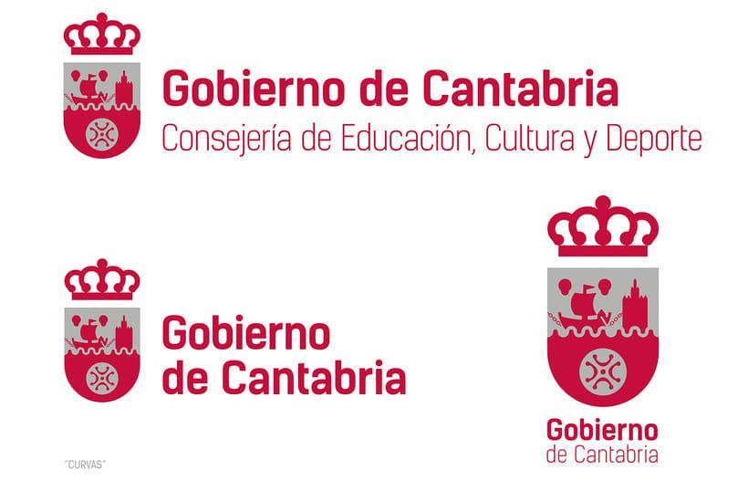 Proyecto de Logotipo para el Gobierno de Cantabria. 2016 -1