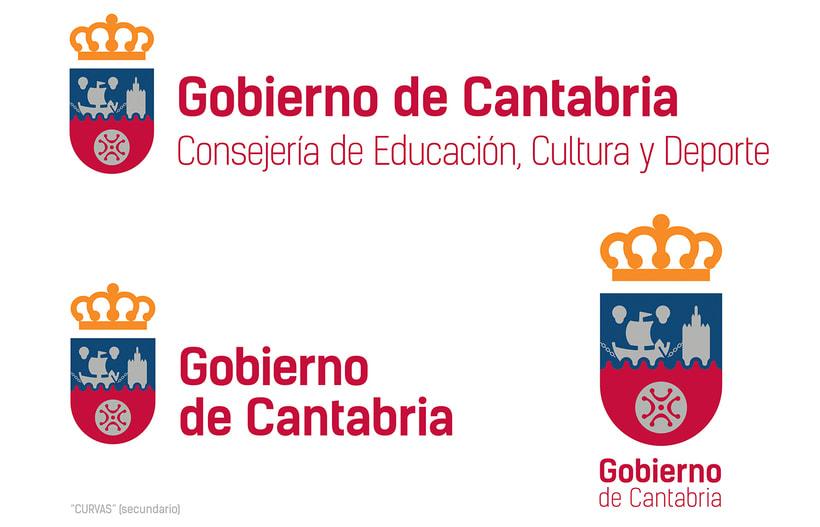 Proyecto de Logotipo para el Gobierno de Cantabria. 2016 0
