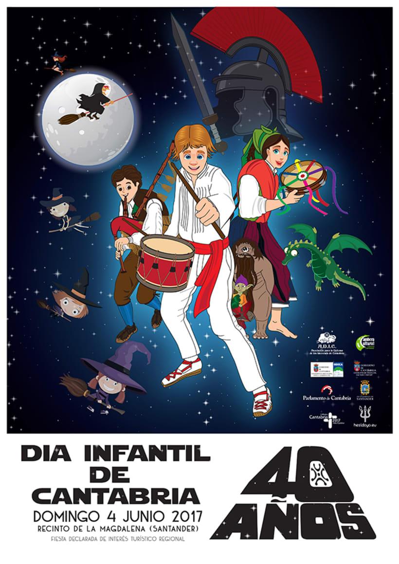 Cartel del Día Infantil de Cantabria 2017 -1